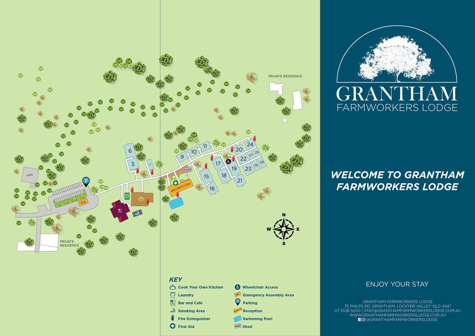 Grantham Farmworkers Lodge Site Map